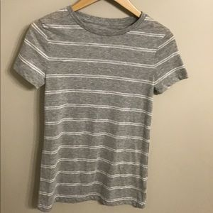 Striped grey and white shirt